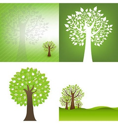 Green background with tree vector