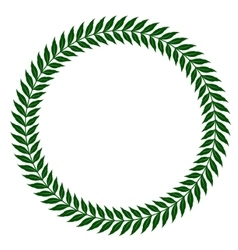 Green laurel wreaths - vector