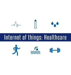 IoT - Healthcare vector image