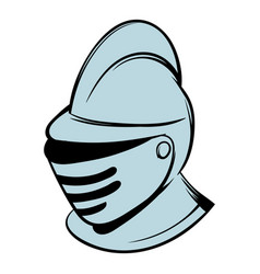 medieval helmet icon cartoon vector image