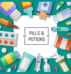 Pharmacy or medicines background vector