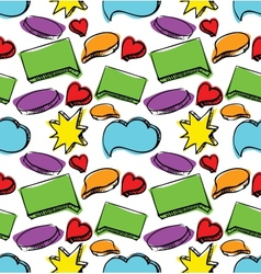 Speech bubbles seamless colorful pattern vector image