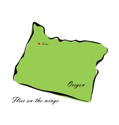 State of oregon vector