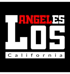 T shirt typography Los Angeles black vector image