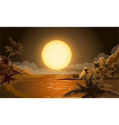 The Sunset in Micronesia vector image vector image