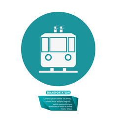Transport funicular cable car passeger pictogram vector