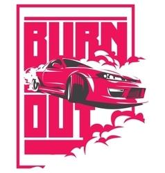 Burnout car japanese drift sport jdm vector