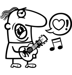 Man singing love song for valentines day vector