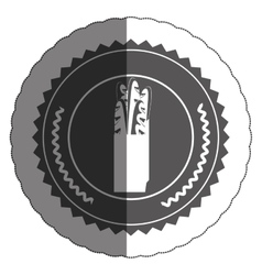 Isolated baguette inside seal stamp design vector