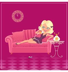 cartoon blondy girl vector image