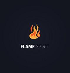 Flame spirit logo template vector