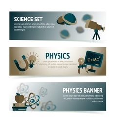 Physics science banners vector