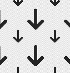 Arrow down Download Load Backupicon sign Seamless vector image