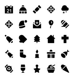 Christmas Icons 1 vector image