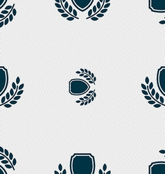 Blank award medal icon sign seamless pattern with vector
