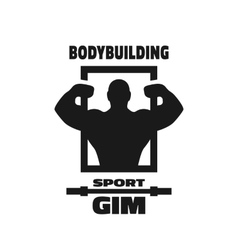 Bodybuilding sport gym symbol vector