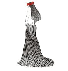 women strip black vector image