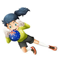A player using the ball from Australia vector image vector image