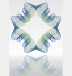 Abstract background with mirror blue and vector