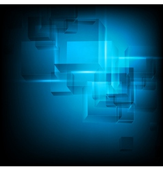 abstract cube tech background vector image vector image