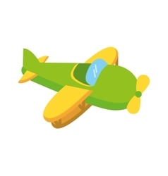 Airplane cute toy isolated icon vector