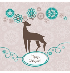 Background with Christmas reindeer vector image