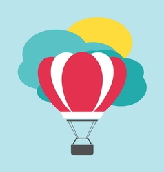 Balon leteci poster vector