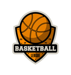 basketball professional league vintage label vector image vector image