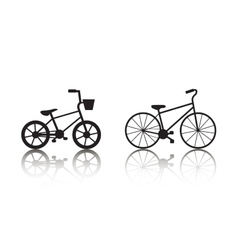 bicycles silhouettes set vector image