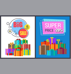 big sale off super discount on round square advert vector image vector image