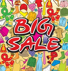 Big sale poster vector