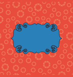 Blue on red vintage seamless pattern background vector