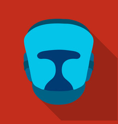boxing helmet icon in flate style isolated on vector image vector image