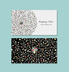business card design floral mandala vector image vector image