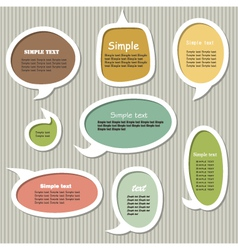 Collection of speech bubbles vector image vector image