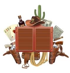 Cowboy Saloon Concept vector image vector image