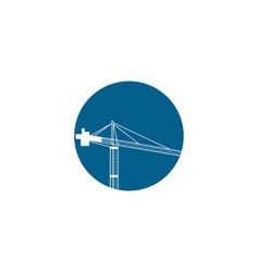 crane design template vector image