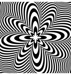 Design monochrome swirl rotation background vector