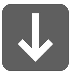 Down arrow flat squared icon vector