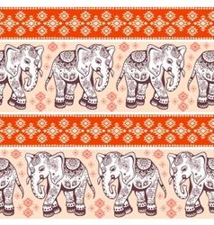 Ethnic elephant seamless vector image vector image