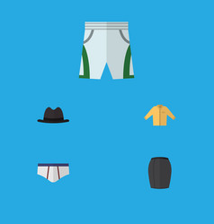 flat icon clothes set of trunks cloth vector image