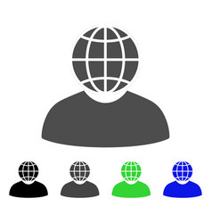 Global politician flat icon vector