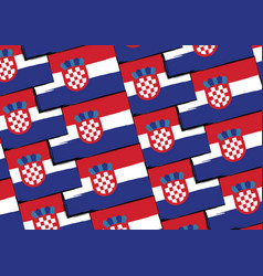 grunge croatia flag or banner vector image vector image