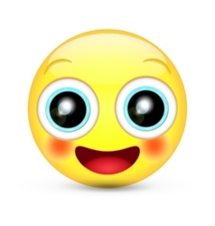 happy emoticon smile vector image vector image