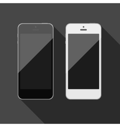 Isolated touch screen smartphone vector image