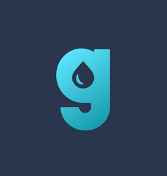 Letter g water drop logo icon design template vector