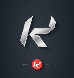 Letter k silver font elegant template for company vector