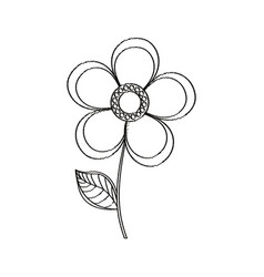 Magnolia flower decoration sketch vector