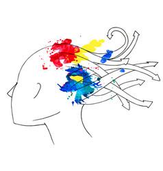 medusa woman profile vector image vector image