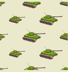 military tank seamless pattern vector image vector image
